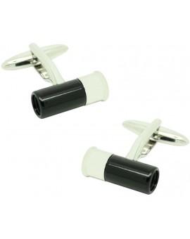 black Gun Cartridge Cufflinks