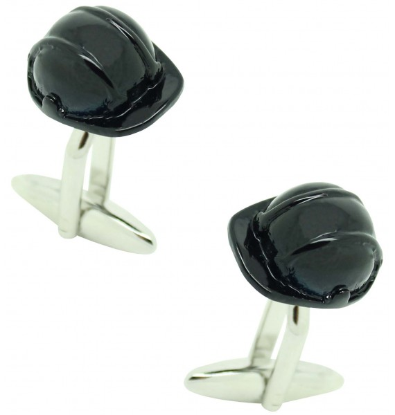 Cufflinks for shirt Navy blue work helmet