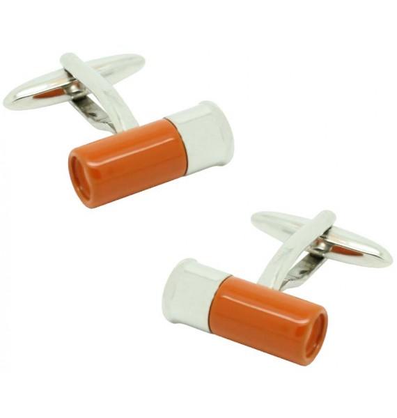 orange Gun Cartridge Cufflinks