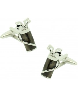 Cufflinks Gray golf bag
