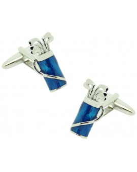 Cufflinks blue golf bag