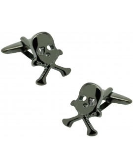 Black original skull shirt cufflinks