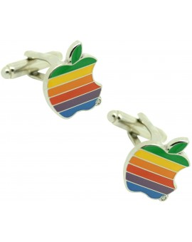 Gemelos para camisa la manzana apple de colores
