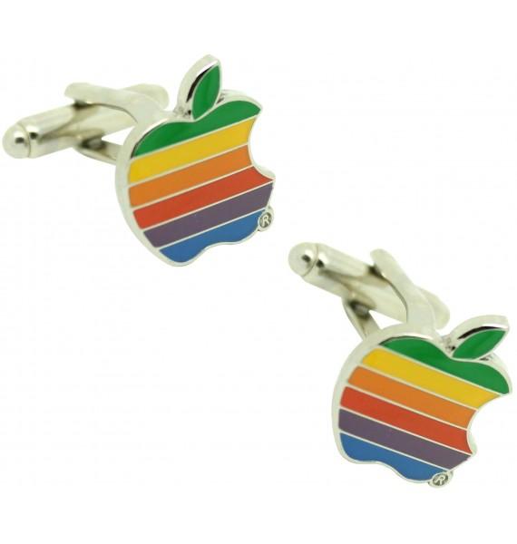 Gemelos para camisa la manzana apple de colores