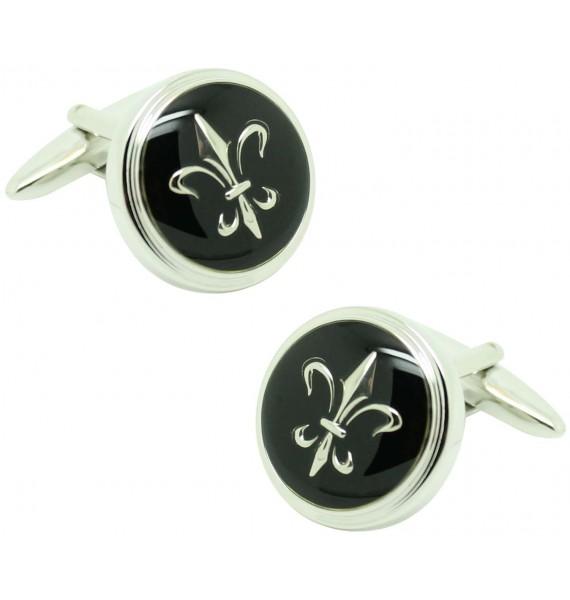 Gemelos para camisa ICON flor de lys black