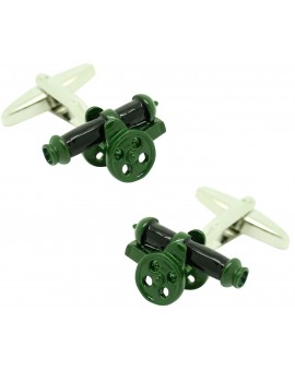 Cufflinks for artillery cannon