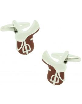 Cufflinks for horse saddle shirt