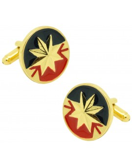 Marvel captain shirt cufflinks