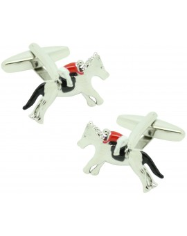 3D horse and rider cufflinks