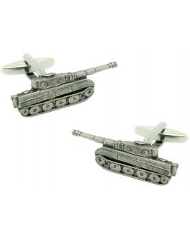 plated 3D tank cufflinks