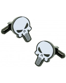 Cufflinks for Punisher skull shirt plus pin and money clip - MARVEL