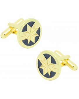 Cufflinks for Captain Marvel shirt plus pin and money clip - MARVEL