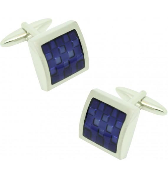 Gemelos para camisa ICON square blue enamel