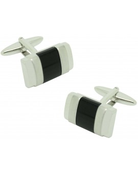 Lys black flower ICON shirt cufflinks