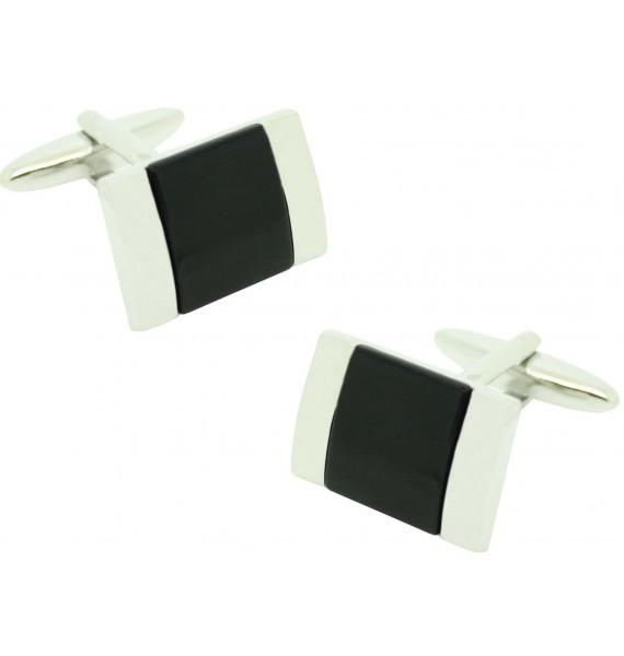 Gemelos para camisa ICON black rectangular Onix