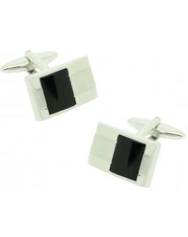 Gemelos para camisa ICON square Onix black