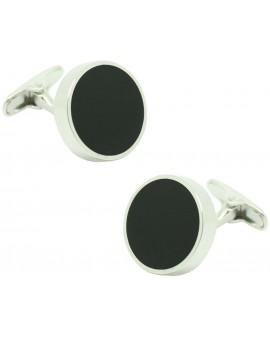 Gemelos para camisa ICON round black elegant