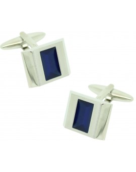 Gemelos para camisa ICON classic square blue enamel