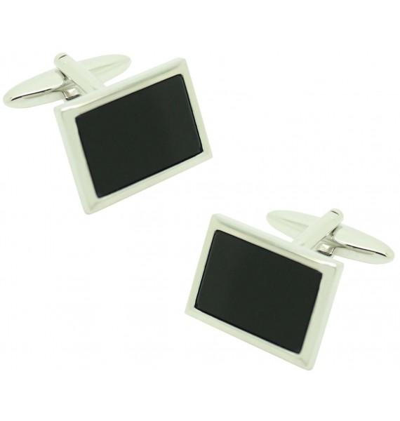Lys black flower ICON shirt cufflinks