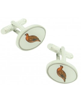 Cufflinks for shirt Oval partridge