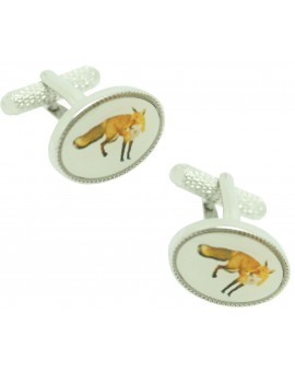 Cufflinks for shirt Oval Fox