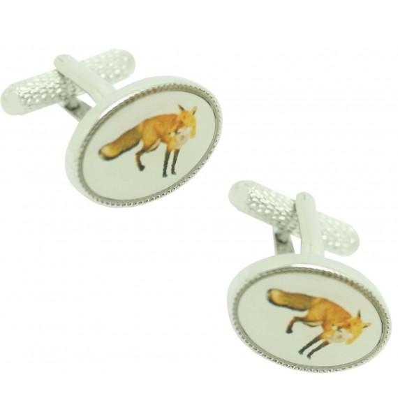 Cufflinks for shirt Oval Fox