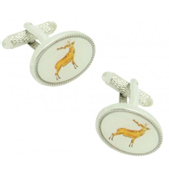 Cufflinks for shirt Oval Deer