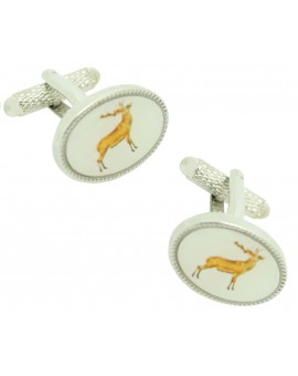Cufflinks for shirt Oval Deer
