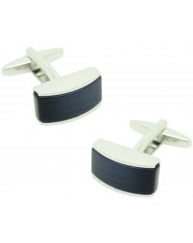 Cufflinks for shirt navy blue rectangular stone II