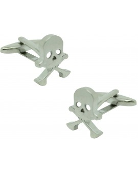 silver plated original skull shirt cufflinks
