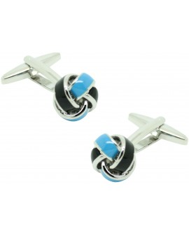 Navy and Blue Knot Cufflinks