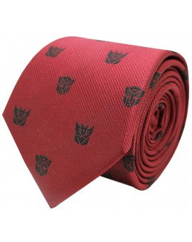 Red Transformers and Decepticons tie