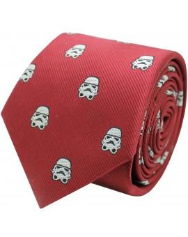 Corbata de seda Stormtrooper Star Wars roja