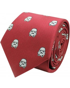 Red Stormtrooper Star Wars silk tie