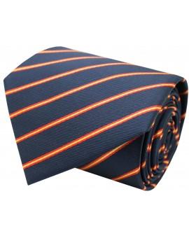 Corbata azul bandera españa lineas finas de seda
