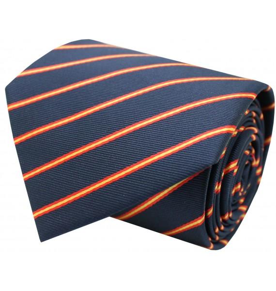 Silk tie with bull Spain navy blue