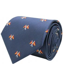 Corbata bandera nautica de España azul marino