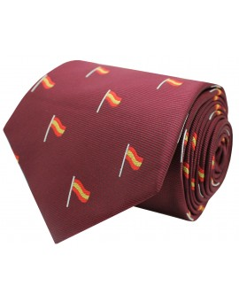 Spain red mast flag tie