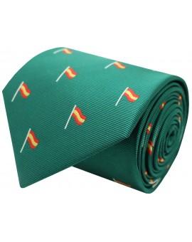 Corbata bandera España en mastil - verde