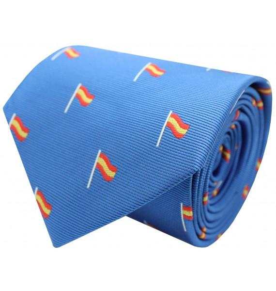 Tie with flag Spain light blue mast