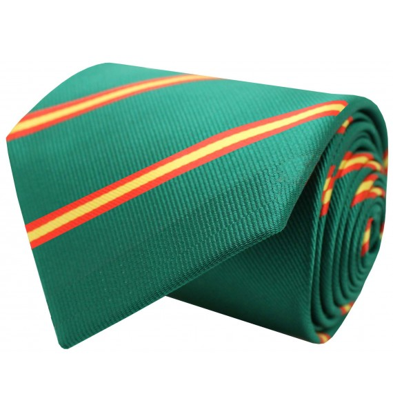 Green diagonal Spain flag tie