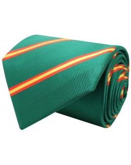 Corbata con bandera España diagonal verde