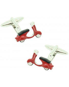 Cufflinks for shirt Vespa 3D Red original