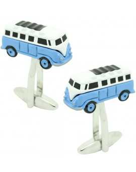 Cufflinks for shirt Hippie van blue