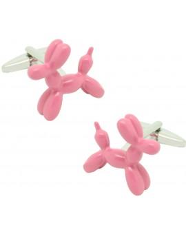 Gemelos para camisa Perro Globo rosa chicle