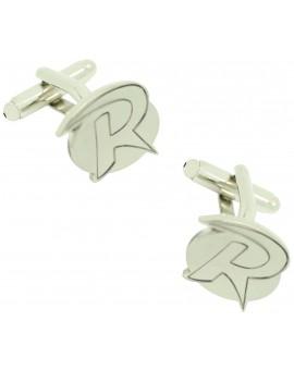 Robin silver shirt cufflinks