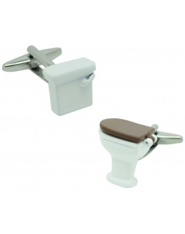 Cufflinks for white toilet shirt