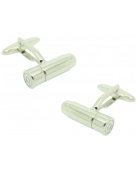 Rifle Bullet Cufflinks silver