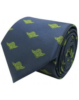 Corbata de seda Yoda Star Wars azul marino