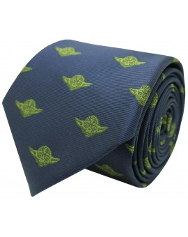 Navy blue Yoda Star Wars silk tie